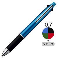 三菱鉛筆(uni) ジェットストリーム多機能ボールペン 4色+シャープ 0.7mm MSXE5-1000-07 ライトブルー軸 1本