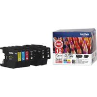 ブラザー インクカートリッジ LC12-4PK+LC12BK-2PK 4色パック+ブラック2個 1パック(6個入)