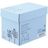 【高白色】【白色度98%】コピー用紙 マルチペーパー スーパーホワイト+厚口 A4 1箱(500枚入×5冊)