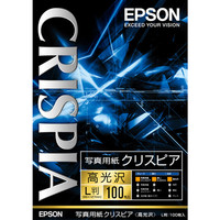 エプソン 写真用紙クリスピア(高光沢) L判 KL100SCKR 1箱(100枚入)