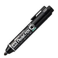 ノック式油性ペン ハンディ PentelPEN 中字丸芯 黒 5本 ぺんてる