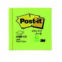 スリーエム Postーit 再生紙ノート 654RPーGN グリーン 654RP-GN 1パック (直送品)