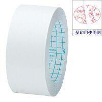 ニチバン 再生紙製本テープ(契印用) ロールタイプ 幅35mm×10m 白色度80% BK-35