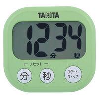 タニタ でか見えタイマー100分計 グリーン キッチンタイマー 1セット(5個:1個×5)