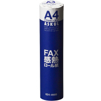 高感度FAX感熱ロール紙 A4(幅210mm) 長さ30m×芯径0.5インチ(ロール紙外径 約48mm) 1箱(6本入) アスクル