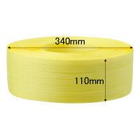 司化成工業 「現場のチカラ」 PPバンド 手巻き用 幅15mm×1000m巻 黄色 TPY 1巻