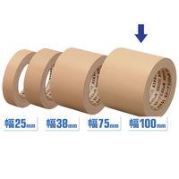 【ガムテープ】「現場のチカラ」 布テープ 0.22mm厚 100mm×25m 茶 アスクル 1セット(5巻入)