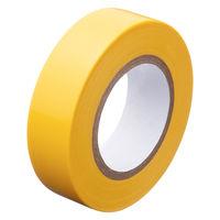 アスクル「現場のチカラ」 ビニールテープ 黄 19mm×10m巻 1箱(10巻入)