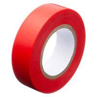 アスクル「現場のチカラ」 ビニールテープ 赤 19mm×10m巻 1セット(30巻:10巻入×3箱)