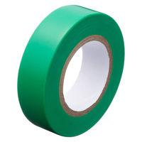 アスクル「現場のチカラ」 ビニールテープ 緑 19mm×10m巻 1箱(10巻入)