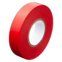アスクル「現場のチカラ」 ビニールテープ 赤 19mm×20m巻 1箱(10巻入)
