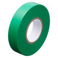 アスクル「現場のチカラ」 ビニールテープ 緑 19mm×20m巻 1箱(10巻入)