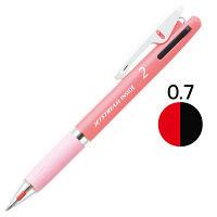 ジェットストリーム 2色ボールペン 0.7mm ピンク軸 アスクル限定 3本 三菱鉛筆uni