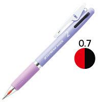 ジェットストリーム 2色ボールペン 0.7mm パープル軸 アスクル限定 3本 三菱鉛筆uni