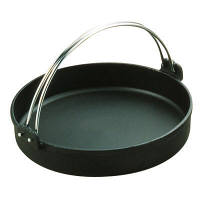 中部コーポレーション トキワ 鉄すきやき鍋 黒ツル付 24cm IH対応 QSK35024 (取寄品)