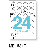 プラス いつものプリンタラベル丸24面 ME-531T 1袋(100シート入)