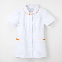 ナガイレーベン 女子上衣 ナースジャケット 医療白衣 半袖 Tオレンジ L FT-4552(取寄品)