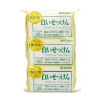 無添加 白いせっけん 108g 1パック(3個入) ミヨシ石鹸