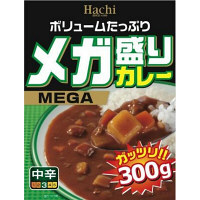 ハチ食品 メガ盛りカレー〔中辛〕 300g 927361