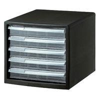 ナカバヤシ 仕切り対応レターケース A4 浅型5段 黒 A4ES‐5B 1箱(6台入)