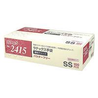 リーブル ラテックス手袋繊細グリップパウダーフリー SS No.2415 1箱(100枚入) (使い捨て手袋)