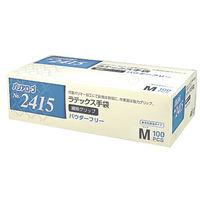 リーブル ラテックス手袋繊細グリップパウダーフリー M No.2415 1箱(100枚入) (使い捨て手袋)