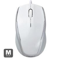 ナカバヤシ(Digio2) 有線マウス ホワイト ブルーLED式/3ボタン MUS-UKT92W