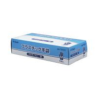 オオサキメディカル オオサキプラスチック手袋パウダーフリー M 70001 1箱(100枚入) (使い捨て手袋)