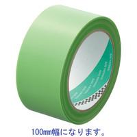 寺岡製作所 養生テープ P-カットテープ No.4141 鉄骨用 若葉色 幅100mm×長さ25m巻 1巻