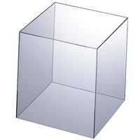 アクリル製 キューブ型ディスプレイ20cm角