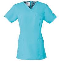 フォーク 医療白衣 ワコールHIコレクション レディススクラブ(後ろジップ) HI700ー2 グランディス S (直送品)