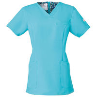 フォーク 医療白衣 ワコールHIコレクション レディススクラブ(後ろジップ) HI700-2 グランディス 3L (直送品)