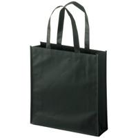 不織布バッグ PPコーティング 平紐 黒 小 1袋(10枚入) 今村紙工