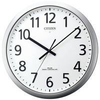 RHYTHM(リズム時計)シチズン パルフィス484 掛け時計 [電波 スイープ 防滴 防塵 秒針停止機能] 直径380mm 8MY484-019 1個
