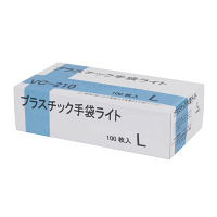 伊藤忠リーテイルリンク プラスチック手袋ライト L VC-210 1箱(100枚入) (使い捨て手袋)