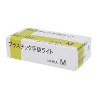 伊藤忠リーテイルリンク プラスチック手袋ライト M VC-210 1箱(100枚入) (使い捨て手袋)