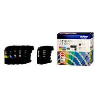 ブラザー インクジェットカートリッジ LC113-4PK+LC113BK(アスクル限定) 4色パック+ブラック1個 1パック(5個入)
