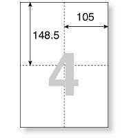プラス マルチプリンタ用紙 4面 TY-240MS 1冊(500枚入)