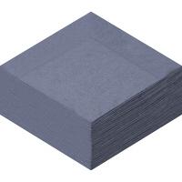 溝端紙工印刷 カラーナプキン 4つ折り 2PLY キャビア 1袋(50枚入)