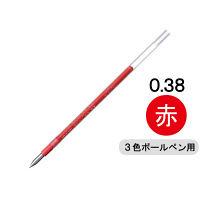 三菱鉛筆(uni) ジェットストリーム替芯(多色・多機能ボールペン用) 0.38mm 赤 SXR-80-38 1本