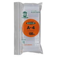 ユニパック(R)(チャック付ポリ袋) 0.04mm厚 B9 50mm×70mm 食品対応 1袋(300枚入) 生産日本社