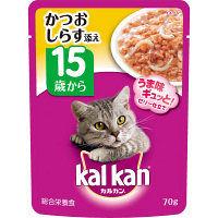kalkan(カルカン) キャットフード パウチ 15歳から しらす入り かつお 70g 1箱(16袋入) マースジャパン
