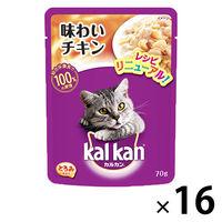kalkan(カルカン) キャットフード パウチ 味わいチキン 70g 1箱(16袋入) マースジャパン