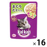 kalkan(カルカン) キャットフード パウチ まぐろとたい 70g 1箱(16袋入) マースジャパン