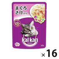 kalkan(カルカン) キャットフード パウチ まぐろとさけ 70g 1箱(16袋入) マースジャパン