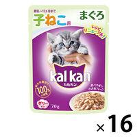 kalkan(カルカン) キャットフード パウチ 子猫用 まぐろ 70g 1箱(16袋入) マースジャパン