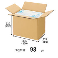 【100サイズ】 スーパー強化ダンボール ダブルフルート 27.9L 幅385×奥行275×高さ320mm 1梱包(10枚入)