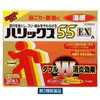 【第3類医薬品】ハリックス55EX温感A ハーフサイズ 12枚 ライオン