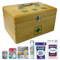 リーダー木製救急箱 Sサイズ 782501 1個 日進医療器 (取寄品)
