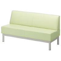 アスプルンド 待合室ベンチ(ロビーベンチ) スチール脚 幅1500mm グリーン 1脚(3梱包)